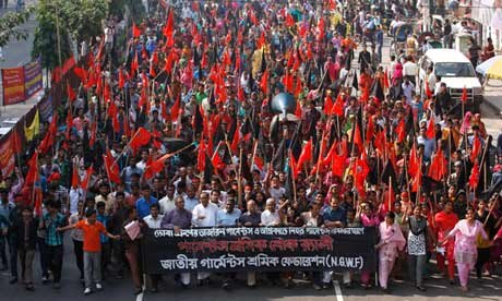 Bangladesh Garment Workers Stage Protest